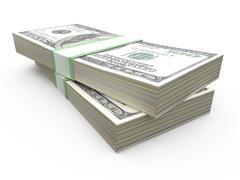 stack of dollar bills - stock illustration