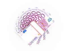 stack of euro bills - stock illustration