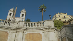 The Spanish Steps in Rome 1 (slomo dolly) Stock Footage