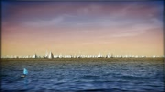 Boats sailing in the Adriatic sea. Stock Footage