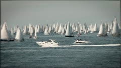 Boats sailing in te Adriatic sea. Stock Footage