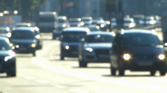 Out-Focus Out-Focused Commuters traffic in Autobahn Expressway highway Motorway Stock Footage