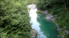 Diversity of river Soca in Slovenia. Stock Footage