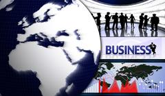 Stock Illustration of Business Montage and Earth