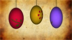 Animation of Easter eggs Stock Footage