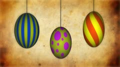 Spinning Easter eggs with growing tendrils animation Stock Footage