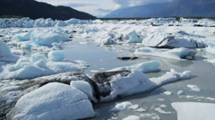 Aerial view Knik Glacier,  Alaska, USA Stock Footage