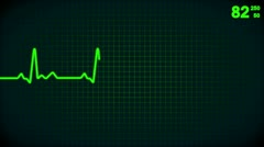 Animated lifeline of a beating heart Stock Footage