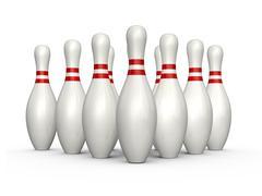 bowling skittles - stock illustration