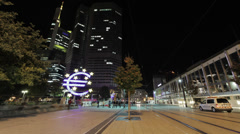 Frankfurt Pedestrian Zone Time-Lapse Stock Footage