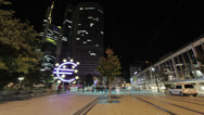 Stock Video Footage of Frankfurt Pedestrian Zone with ECB TL