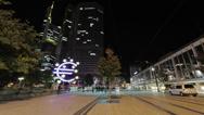 Stock Video Footage of Frankfurt Pedestrian Zone Time-Lapse