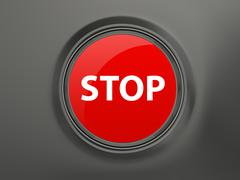 stop button - stock illustration