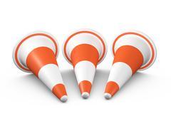Stock Illustration of circular traffic cones