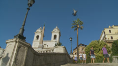 The Spanish Steps in Rome 5 (slomo dolly) Stock Footage