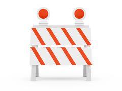 road barrier - stock illustration