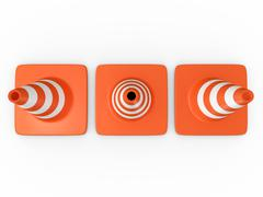 Stock Illustration of traffic cones