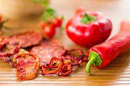Stock Photo of dried tomatoes