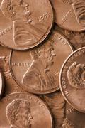Close up of pennies Stock Photos