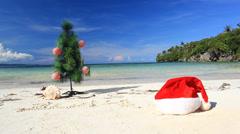 New year on beach - stock footage