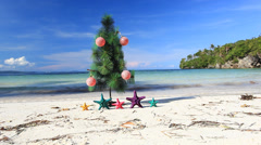 New year tree - stock footage