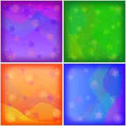 Abstract holiday background, set Stock Illustration