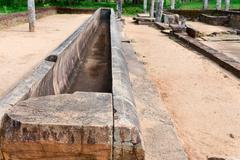 ruins of a ancient monastery, anuradhapura, sri lanka - stock photo
