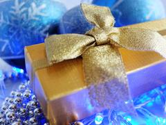 Christmas Decoration and Gift Box Stock Photos