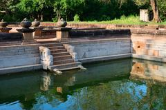 ruins of the ancient city anuradhapura, sri lanka - stock photo