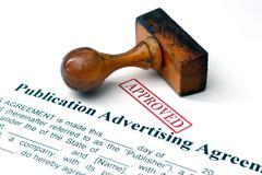 Publication advertising agreement Stock Photos