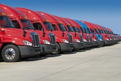 New semi trucks Stock Photos