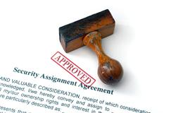 security assignment agreement - stock photo