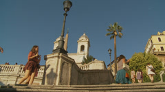 The Spanish Steps in Rome 8 (slomo dolly) Stock Footage