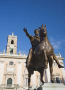 Stock Photo of Statue of Marcus Aurelius, Palazzo Senatorio, Italy