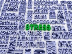3d stress concept (word cloud) Stock Illustration