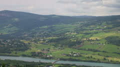 Static time lapse E6 Gudbrandsdalen landscape Scandinavia Norway Stock Footage