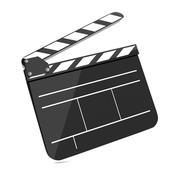 Film Clap Board Cinema. Stock Illustration