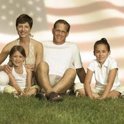 The All-American family - stock photo