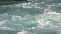 Shot of kayaker in wild waters Stock Footage