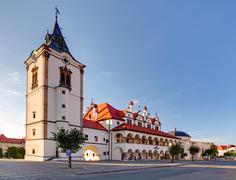 Old town hall in levoca town - slovakia Stock Photos