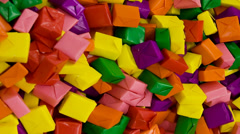 Colorful Wrapped Candy Stock Footage