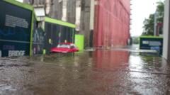 Worksite rain 2 - stock footage
