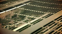 Close up of a part of machine for printing Stock Footage