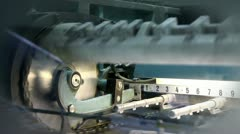 Close up of part of machine for printing Stock Footage