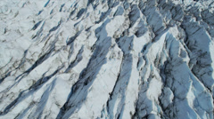 Aerial view of Ice slabs a Glacier constantly moving, Arctic Region Stock Footage