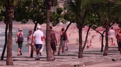 Walking. Rio de Janeiro / Brazil Stock Footage
