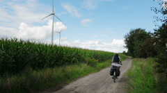 Trip on bicycle on holland Stock Footage