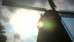 Close-up of a windmill in Netherland Stock Footage