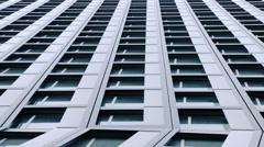 Geometrical windows in modern skyscraper Stock Footage