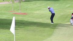 PGA Padraig Harrington shot near green Stock Footage